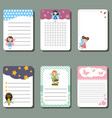 cute cards or stickers with fairy cute cards or vector image vector image