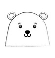 cute christmas bear face vector image