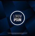 dark blue abstract polygonal cover vector image
