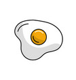 delicious fried egg with natural ingredients vector image