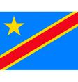 democratic republic of the congo flag vector image vector image