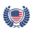 emblem with usa symbol design element for poster vector image vector image