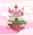 fairytale castle with big towers in the sky vector image vector image