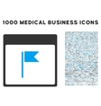 Flag Calendar Page Icon With 1000 Medical Business vector image vector image
