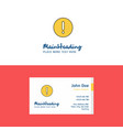 flat error logo and visiting card template vector image vector image