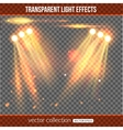 Floodlight over transparent background vector image vector image