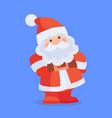 funny santa claus character cartoon icon vector image