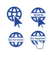 go to web set of icons vector image vector image