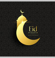 golden eid festival greeting background vector image vector image