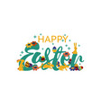 happy easter lettering modern calligraphy happy vector image