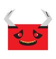 happy halloween cartoon demon avatar vector image vector image