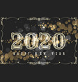 happy new 2020 year design in vintage style vector image vector image