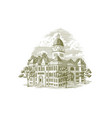 jasper county courthouse vector image vector image
