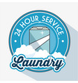 laundry logo emblem badge vector image vector image