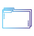 line folder file to save documents information to vector image vector image
