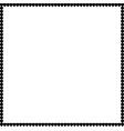 love square photo border made of cartoon black vector image