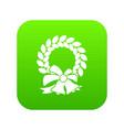 merry christmas wreath icon digital green vector image