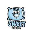 modern mascot pillow and sweet dream logo vector image vector image