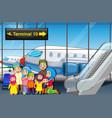 muslim family at airport vector image