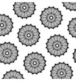 pattern of black silhouette abstract flower vector image vector image
