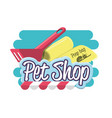 pet shop accessories icons vector image