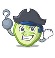 pirate fresh slice cucumber on character cartoon vector image