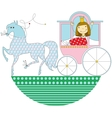princess in a pink carriage vector image vector image