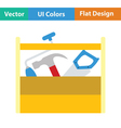 Retro tool box icon vector image vector image