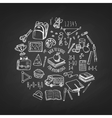 School tools sketch icons isolation vector image