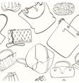 Seamless bag pattern vector image vector image