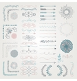 set decorative hand drawn design vector image vector image