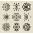 set of circular patterns vector image