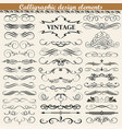 set of vintage calligraphic design elements vector image vector image