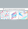set template geometric pattern covers design vector image vector image