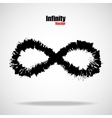 Sign infinity with brush vector image