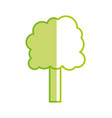 silhouette ecology tree to environment care icon vector image vector image
