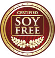 soy free icon vector image vector image