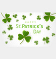 st patricks day greetings card vector image vector image
