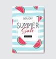 summer sale watermelon lettering badge design vector image