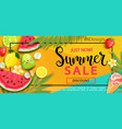 Super sale flyer with gourmet food vector image