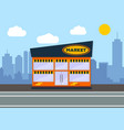 supermarket building city landscape concept vector image
