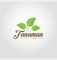 tanaman - nature plant logo template vector image vector image