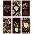 tea flyers vector image vector image