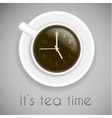 Tea time theme - creative idea with cup of tea and vector image