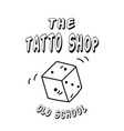 the tattoo shop dice background image vector image