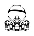 vintage monochrome highly detailed respirator vector image