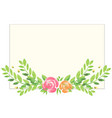 watercolor background with roses and leaves vector image vector image