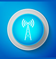 White antenna icon radio antenna wireless