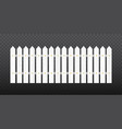 white wooden fence isolated vector image vector image