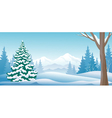 Winter day panoramic vector image